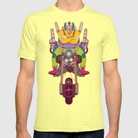 Krusty the Biker Gang Neo-Tokyo Clown Mens Fitted Tee Lemon SMALL