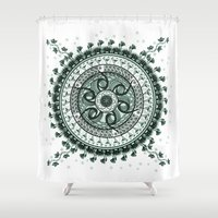 Classical Circle Turquoi… Shower Curtain