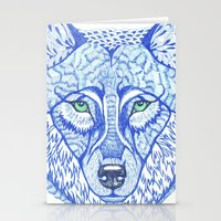 ice wolf Stationery Cards