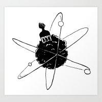 Frotoon Afro-Nucleus Art Print