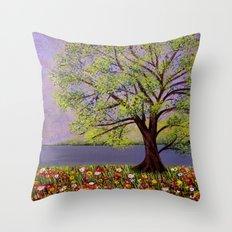 Summer landscape-2 Throw Pillow