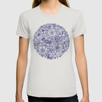 Circle Of Friends Womens Fitted Tee Silver SMALL