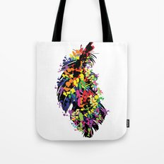 Colorful feather Tote Bag