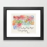 Tugstugs Mixtapes Framed Art Print