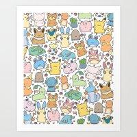Kawaii Pokémon Art Print