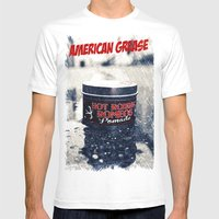 American grease Mens Fitted Tee White SMALL
