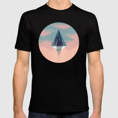Enlightened Mountain Black SMALL Mens Fitted Tee