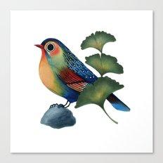 Ginkgo Bird Canvas Print