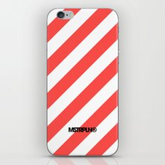 Infrared Lines / White iPhone & iPod Skin