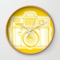 I Still Shoot Film Holga Logo - Reversed Yellow Wall Clock