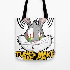 Tunes make me go looney  Tote Bag