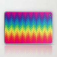 Neon Rainbow Flame Chevr… Laptop & iPad Skin