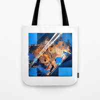 Abstraction, Orange and Blue Tote Bag
