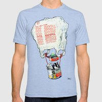 Great Escape Mens Fitted Tee Tri-Blue SMALL