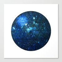 Star Geodesic Canvas Print