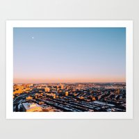 Overlooking Boston Art Print