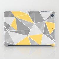 Pattern, grey - yellow iPad Case