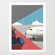 Art Print featuring Departure Lounge by Ryo Takemasa