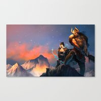 League of Legends-Tryndamere and Ashe Canvas Print