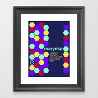 marynka single hop Framed Art Print