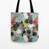 Tropical Birds (Color 2 - Bold) Tote Bag