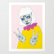 Art Print featuring Bablien II - Space Princ… by Natalie Foss