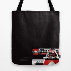 Niki Lauda, McLaren MP4/2 TAG Porsche, 1984 Tote Bag