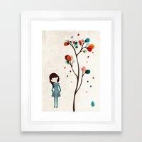 Tree Of Petals Framed Art Print