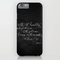 iPhone & iPod Case featuring Bearing in Love // White on Black by Magpie Paper Works