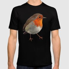 Robin Mens Fitted Tee Black SMALL