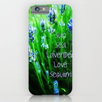 iPhone Cases featuring Sun Sea Lavender Love Sequim by Eve Penman