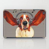 Basset Hound In Earphones iPad Case