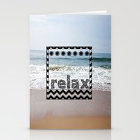 Relax Polaroid  Stationery Cards