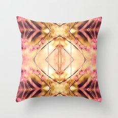 PINK SPANGLES No9-R1 Throw Pillow
