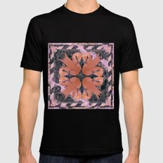 Flamingos  Mens Fitted Tee Black SMALL