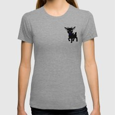 Micky The Goat Womens Fitted Tee Tri-Grey SMALL