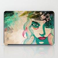 Floral Girl Illustration iPad Case