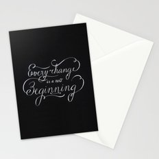 Every change is a New Beginning Stationery Cards