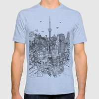 Toronto! (version #2) Mens Fitted Tee Athletic Blue SMALL
