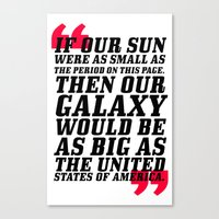 If Our Sun... Canvas Print
