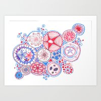 Let's Hear It for the Red, White, and Blue! Art Print