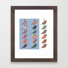 Fun Finches Framed Art Print