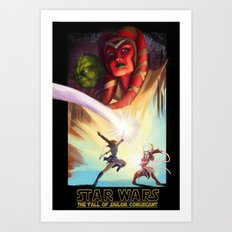 the Fall of Coruscant Art Print