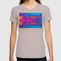 Crashing Waves Abstract Womens Fitted Tee Cinder SMALL