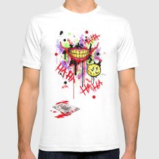 The Joker White SMALL Mens Fitted Tee