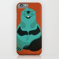iPhone & iPod Case featuring Beaver by The Little Friends of Printmaking