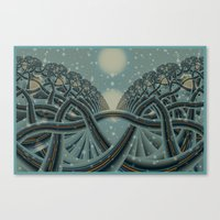 Celtic Winter Forest Canvas Print