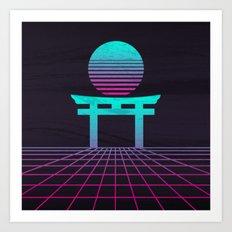 Neon Japan Art Print
