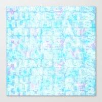 Hum Blue Canvas Print