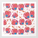 Apples pattern #G12 Art Print
